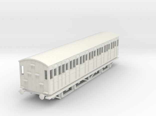 o-87-metropolitan-8w-short-brake-coach-mod in White Natural Versatile Plastic