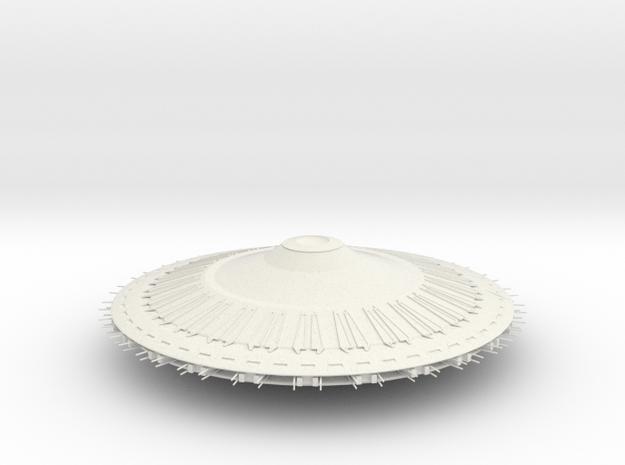 Vree - Xorr Saucer in White Natural Versatile Plastic