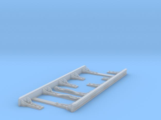 Paire de contre rails courts équipés 5 supports in Smooth Fine Detail Plastic