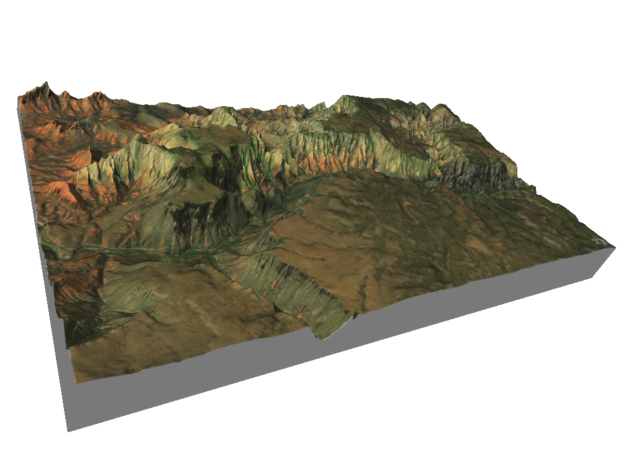 "Oak Creek Canyon Map: 7""x12"" in Glossy Full Color Sandstone"