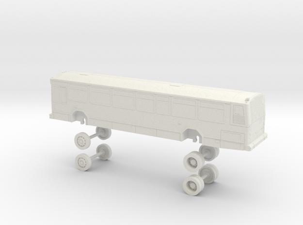 HO Scale Bus Gillig Phantom Foothill F630-F648 in White Natural Versatile Plastic