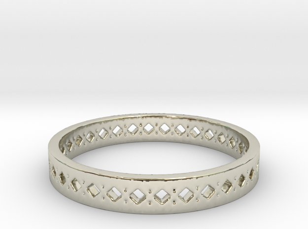 Diamonds Ring Band in 14k White Gold