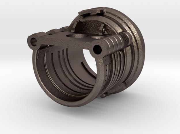 Custom Request - Graflex Master - Part6 Steel in Polished Bronzed-Silver Steel