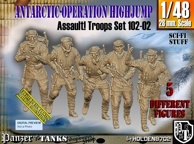 1/48 Antarctic Troops Set102-02