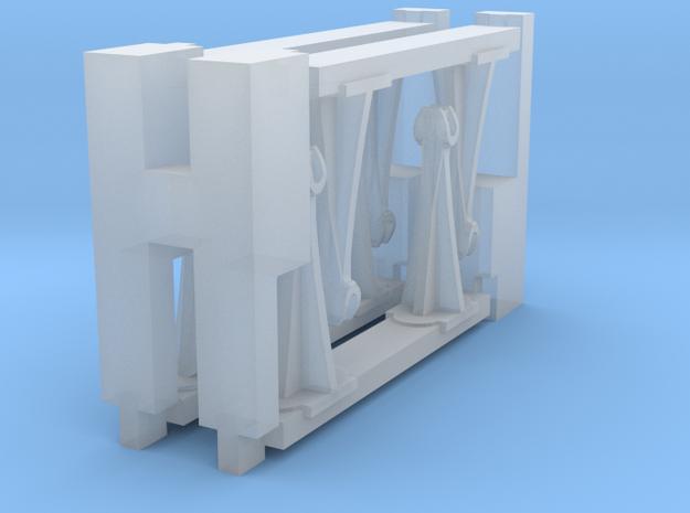 S Scale 8 queenposts & 4 beams in Smoothest Fine Detail Plastic