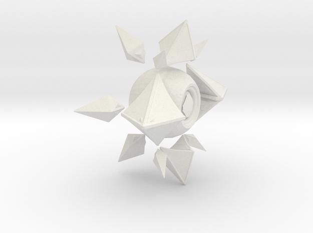Sagiras Ghost Shell in White Natural Versatile Plastic