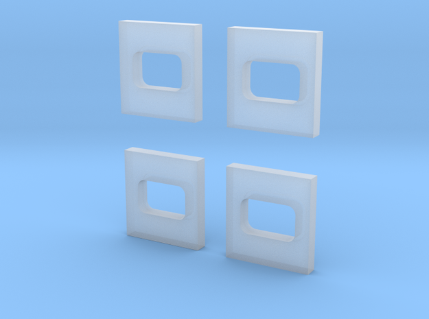 Extra spare engine room windows for N scale MZ 1-2 in Smooth Fine Detail Plastic
