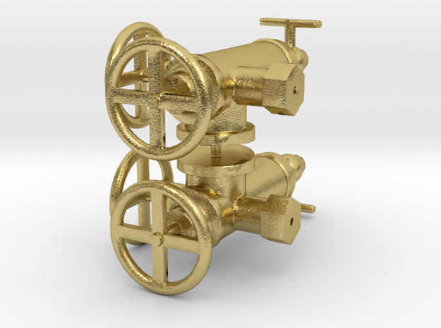 WD Hunslet Roscoe Lubricator Set in Natural Brass