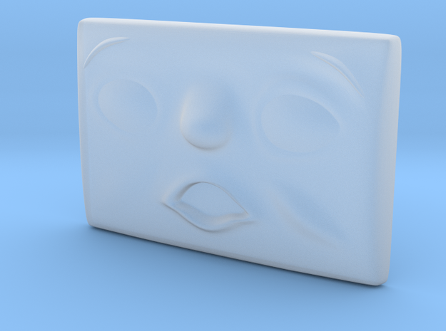 Small Scared Face in Smoothest Fine Detail Plastic