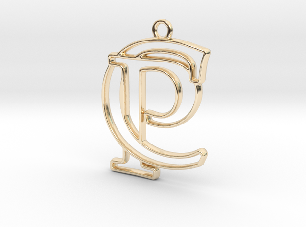 Initials C&P monogram in 14k Gold Plated Brass