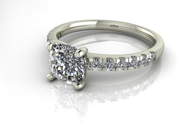 Classic Solitaire 23 NO STONES SUPPLIED in Fine Detail Polished Silver