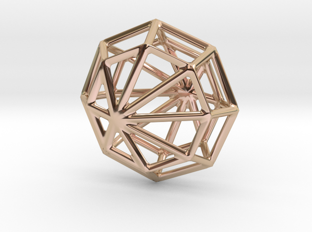 Octagon Necklace in 14k Rose Gold