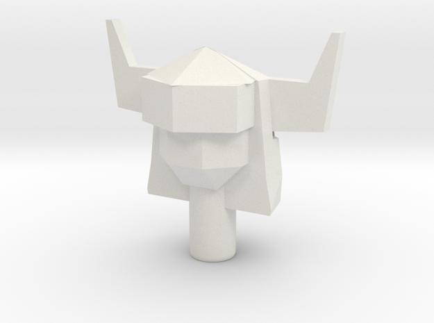 Upsized Acroyear II Head in White Natural Versatile Plastic