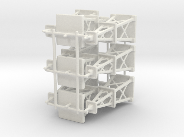 Oil Derrick x9 in White Natural Versatile Plastic