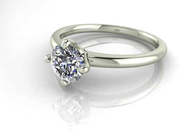 Classic Solitaire 21 NO STONES SUPPLIED in Fine Detail Polished Silver