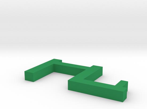 bed hanger clip in Green Processed Versatile Plastic