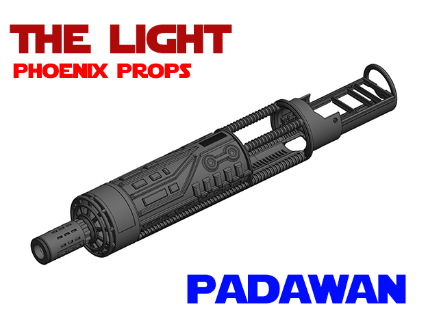 Ben Solo - PP - Padawan Lightsaber Chassis in White Natural Versatile Plastic