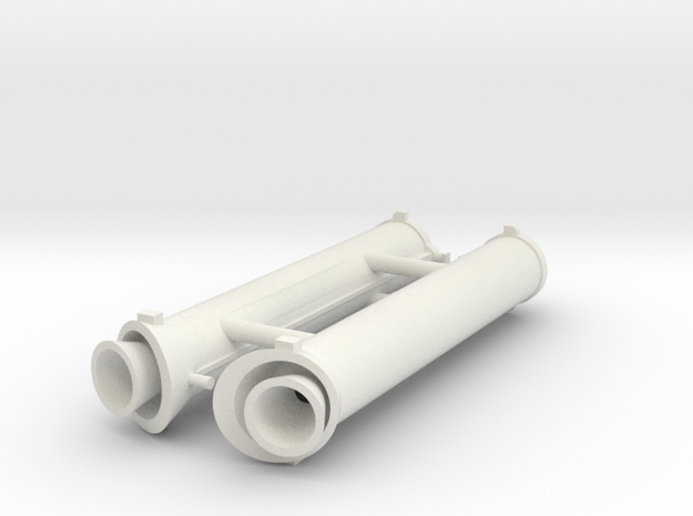 Ariane 3 PAP 7.35 boosters in White Natural Versatile Plastic: 1:144