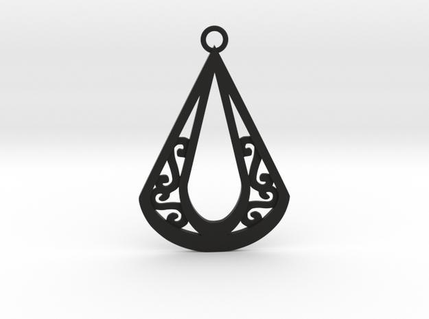 Calyson pendant in Black Natural Versatile Plastic: Large
