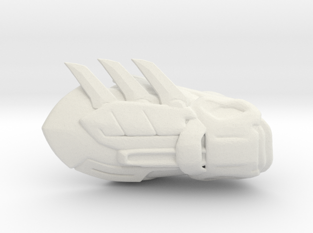 Batman Gauntlet Left in White Natural Versatile Plastic