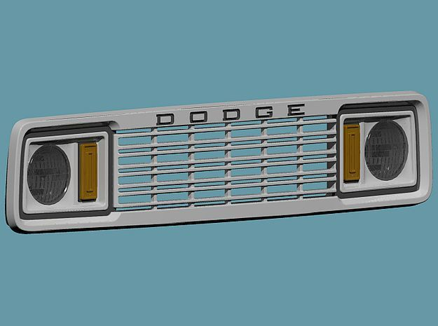 1/24 1977 Dodge Ramcharger Grill in Smoothest Fine Detail Plastic