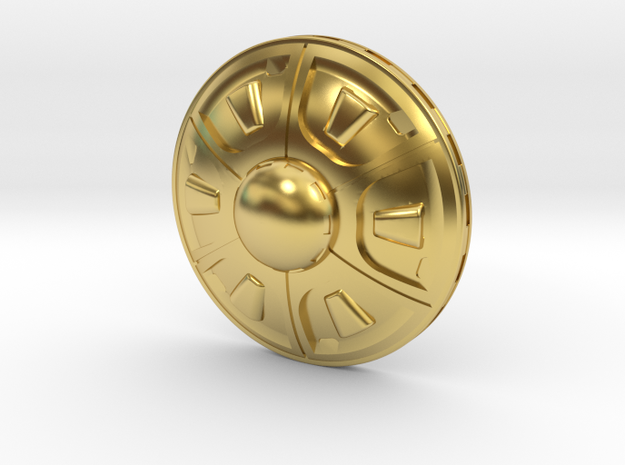 Flying Saucer in Polished Brass
