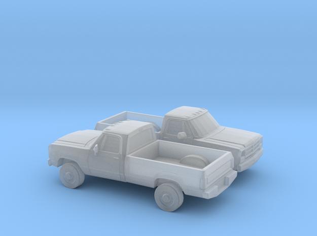 1/160 2X 1988-91 Dodge Ram Reg Cab in Smooth Fine Detail Plastic