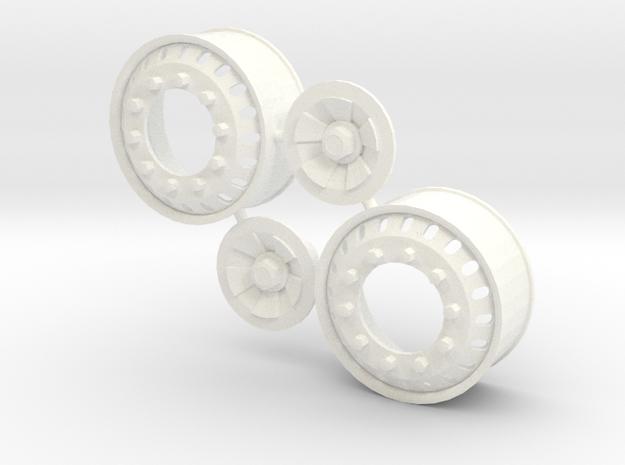 20 Hole Euro Front Rim in White Processed Versatile Plastic