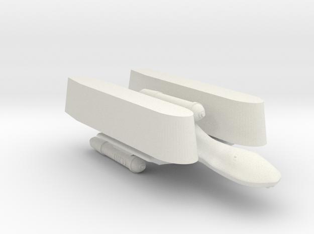 3125 Scale Romulan SparrowHawk-T 2-Pod Transport in White Natural Versatile Plastic