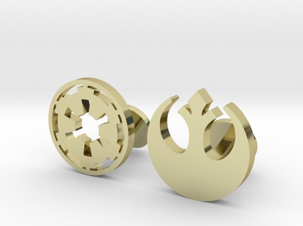 Star Wars Rebel VS Empire Cufflinks in 18k Gold Plated Brass
