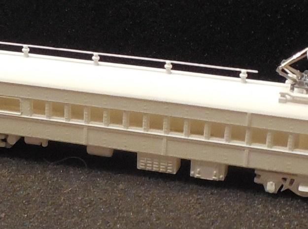 N Scale Reading MU Commuter Coach (ex-Combine) in Black Hi-Def Acrylate