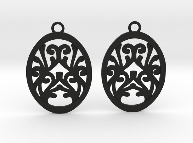 Olwen earrings in Black Natural Versatile Plastic: Small