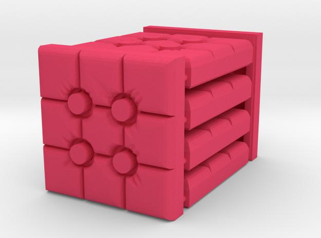 3 x 3 Mattress set in Pink Processed Versatile Plastic