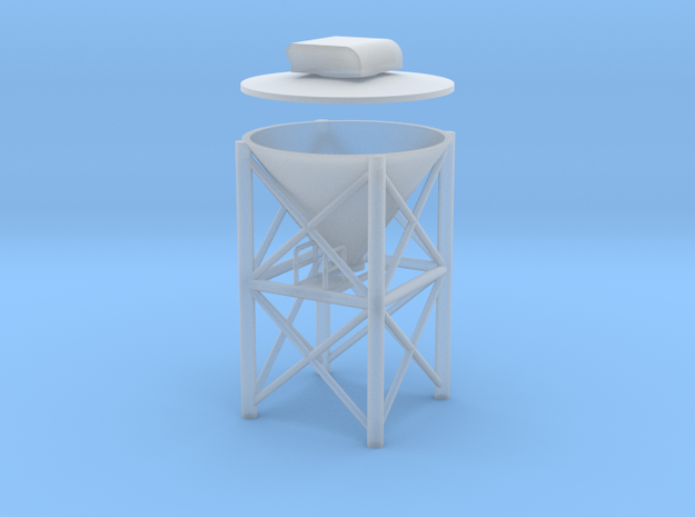 """'HO Scale' - 1"""" PVC Dust Collector in Smooth Fine Detail Plastic"""