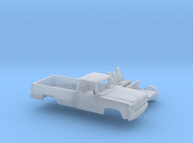1/160 1988-91 Dodge Ram Regular Cab Kit in Smooth Fine Detail Plastic