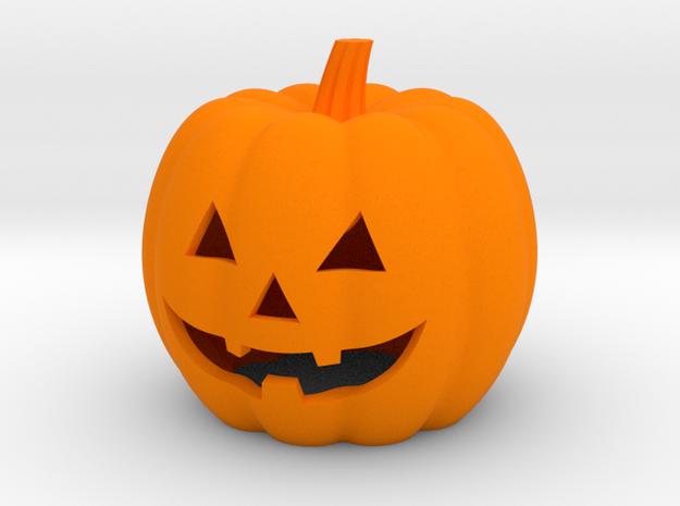 Pumpkin Candle Holder (hollow version) in Orange Processed Versatile Plastic