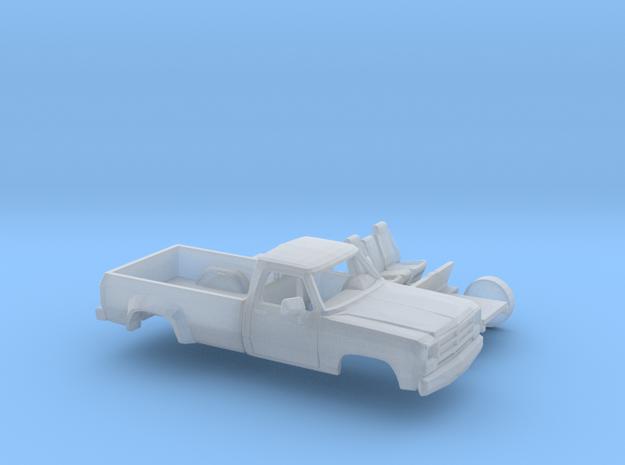 1/160 1988-91 Dodge Ram Regular Cab Dually Kit in Smooth Fine Detail Plastic