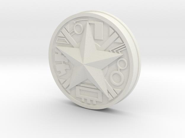 Zeo Ranger Legacy Power Coin in White Natural Versatile Plastic