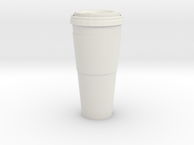 1/3rd Scale Paper Coffee Cup in White Natural Versatile Plastic