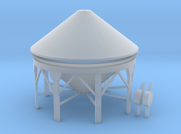 "'N & HO Scale' - Storage Tank - 1"" PVC in Smooth Fine Detail Plastic"