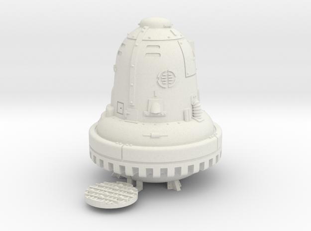 1:100/TT Gauge - The Bell (Die Glocke) in White Natural Versatile Plastic