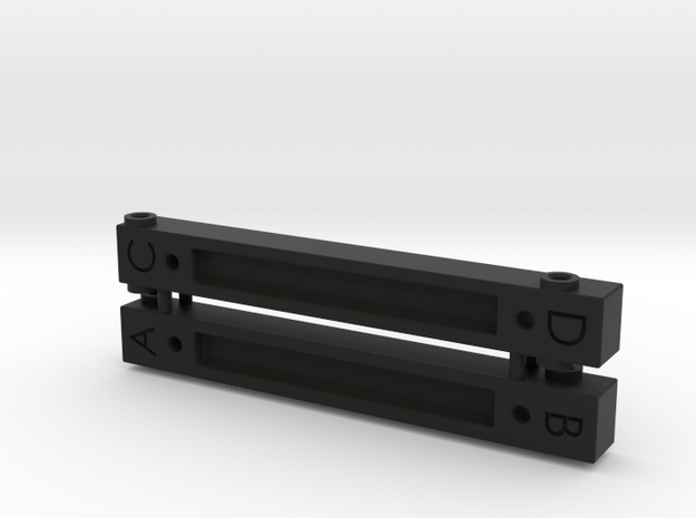 Spare Body Tab Set for K5 Blazer SCX10ii Mounts in Black Natural Versatile Plastic