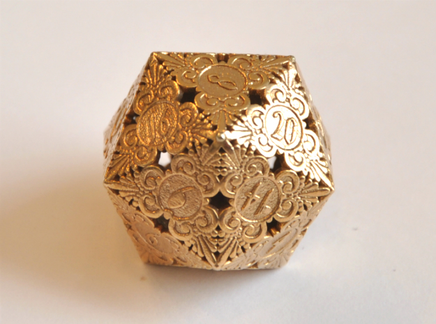 D20 Balanced - Gothic (Metal) in Natural Bronze