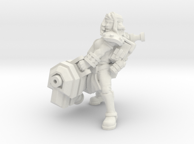 Miner Heavy Ion Cannon in White Natural Versatile Plastic