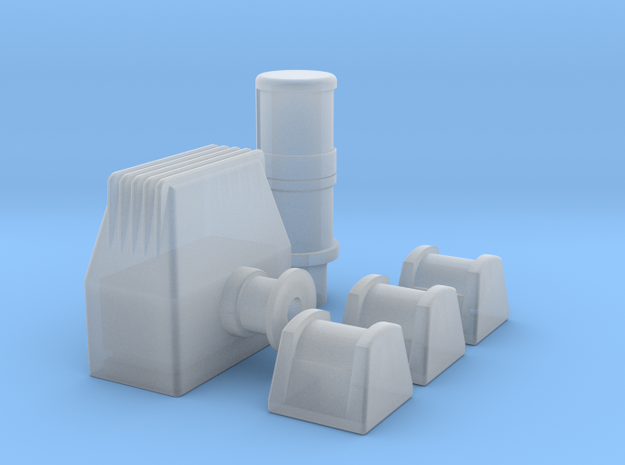 Sunseeker Navigation lights  in Smoothest Fine Detail Plastic: 1:10