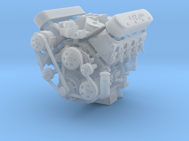 LSX/LS3 1/25 complete engine w/single 4bbl intake
