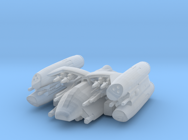 Missile gunboat Gryphon in Smooth Fine Detail Plastic