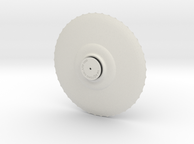 Fire Saucer 6 inch Assembly wPLUG in White Natural Versatile Plastic