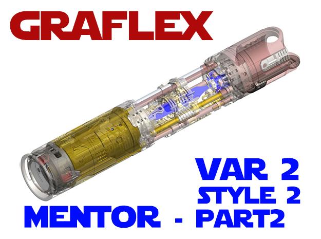 Graflex Mentor - Var2 Part02 - Switches Style2 in White Natural Versatile Plastic