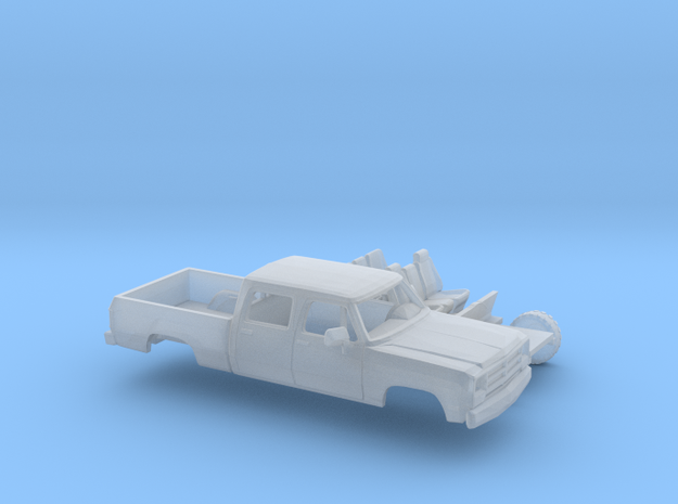 1/160 1988-91 Dodge Ram CrewCab Short Bed Kit in Smooth Fine Detail Plastic